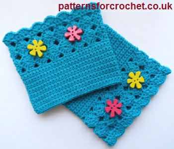 Free Crochet Pattern Shell Boot Cuffs Usa