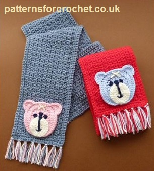 Free Crochet Patterns For Childrens Hats And Scarves : Free crochet pattern childs motif scarf usa