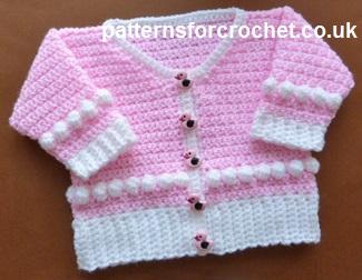 Free Baby Crochet Pattern Scoop Neck Cardigan Uk