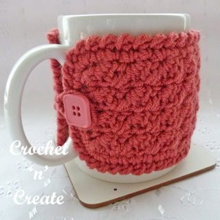 Free Crochet Pattern Simple Mug Cozy Usa