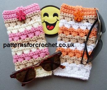 Free crochet pattern sunglasses case uk