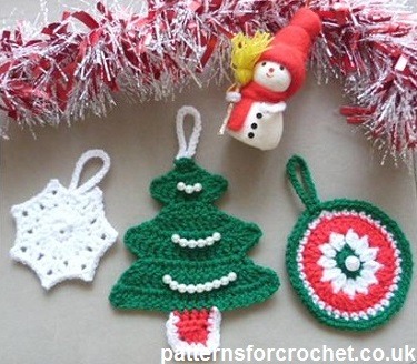 Free Crochet Patterns For Christmas Decorations : Free crochet pattern christmas tree decorations uk