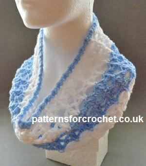 Free Crochet Pattern Lacy Cowl Uk