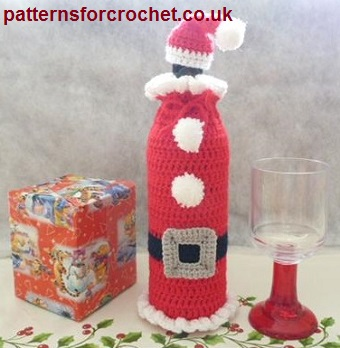 Free Crochet Pattern Santa Bottle Cozy And Hat Usa