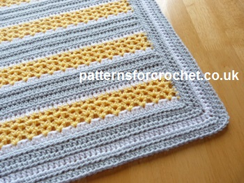 Crochet Baby Blanket Patterns Popcorn Stitch : Free crochet pattern v-stitch stroller blanket usa