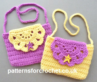 Crochet Clutch Bag Pattern : Free crochet pattern childs purse uk