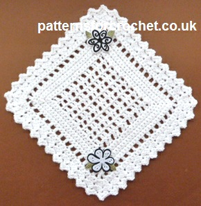 Free crochet pattern pretty doily usa
