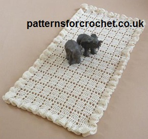 Free Crochet Pattern Frilled Table Runner Usa