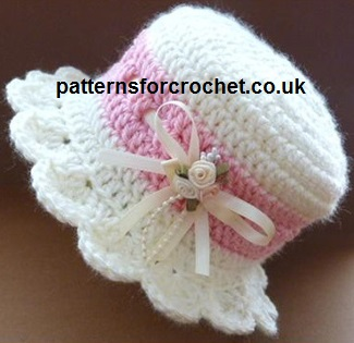 Free baby crochet pattern brimmed baby hat usa dt1010fo