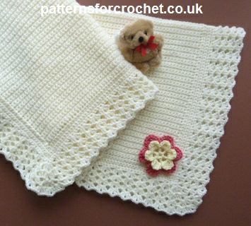 Crochet Baby Blanket Patterns Popcorn Stitch : Free baby crochet pattern stroller blanket usa